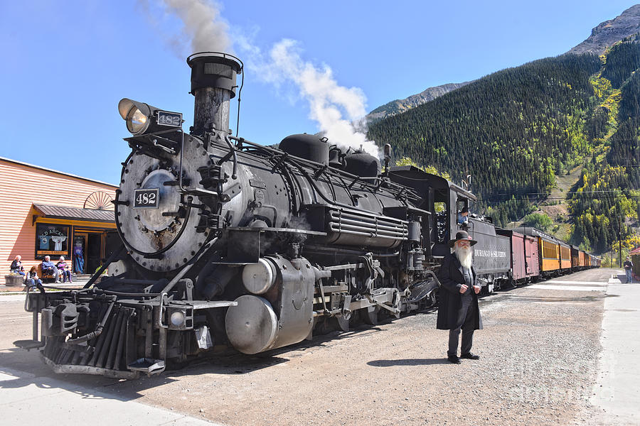 Old Timer at the Silverton, Colorado, Train Stop by Catherine Sherman
