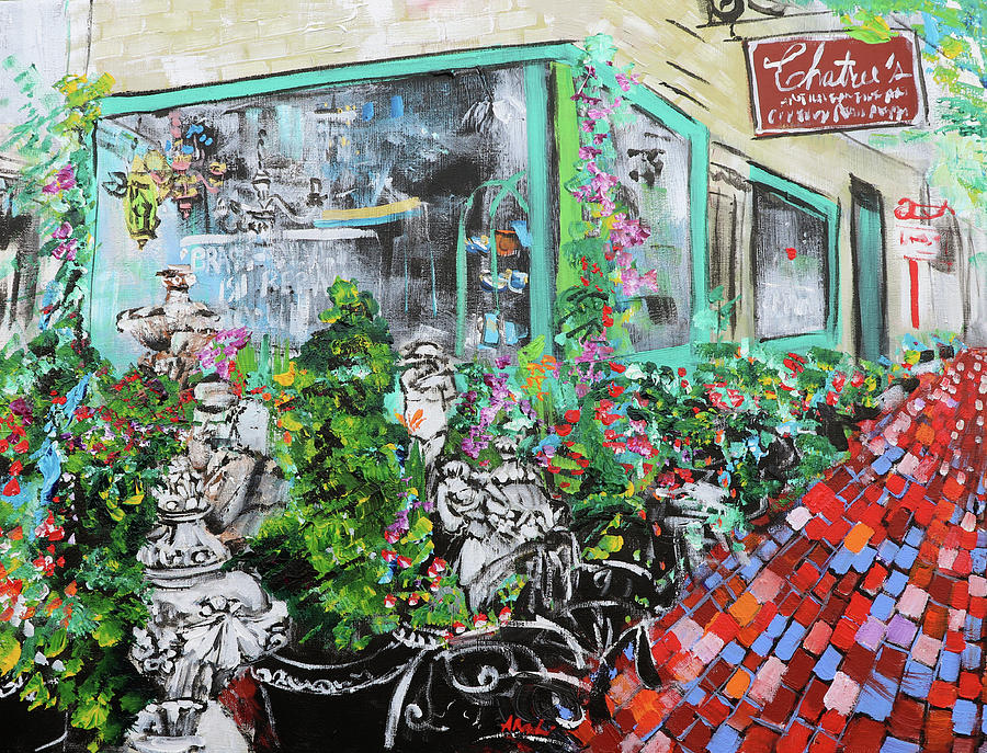 Alexandria Painting - Old Town Alexandria King Street Chatrees 2 201933 by Alyse Radenovic