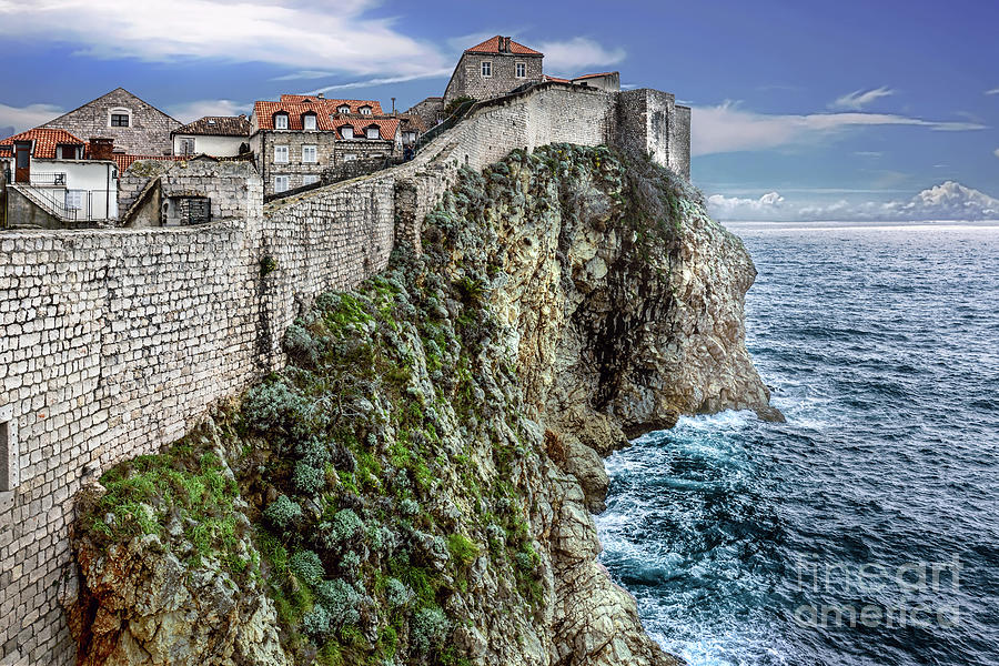Old Town Dubrovnik Wall by David Meznarich
