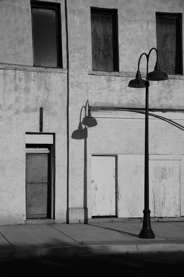 Street Light Photograph - Old Town In New Mexico by Marty Klar