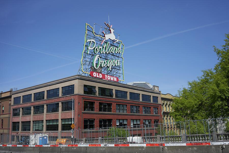 Old Town Portland Oregon sign  by Erik Burg