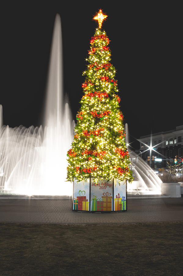 Old Towne Christmasville Tree Photograph