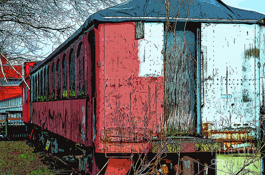 Old Train by Kirt Tisdale