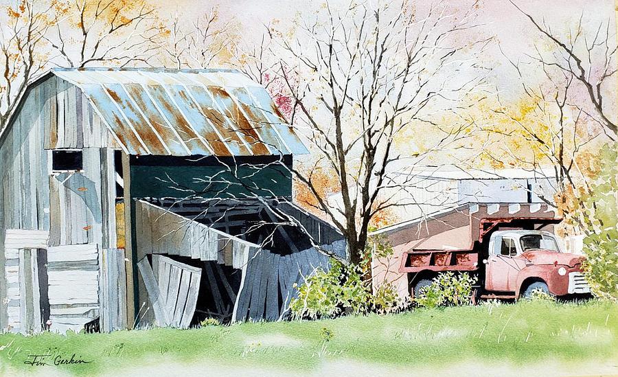 Old Truck, Older Barn by Jim Gerkin