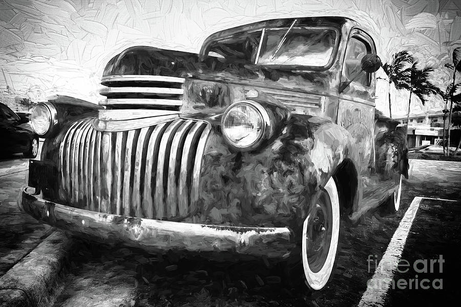 Old truck  - painterly by Les Palenik