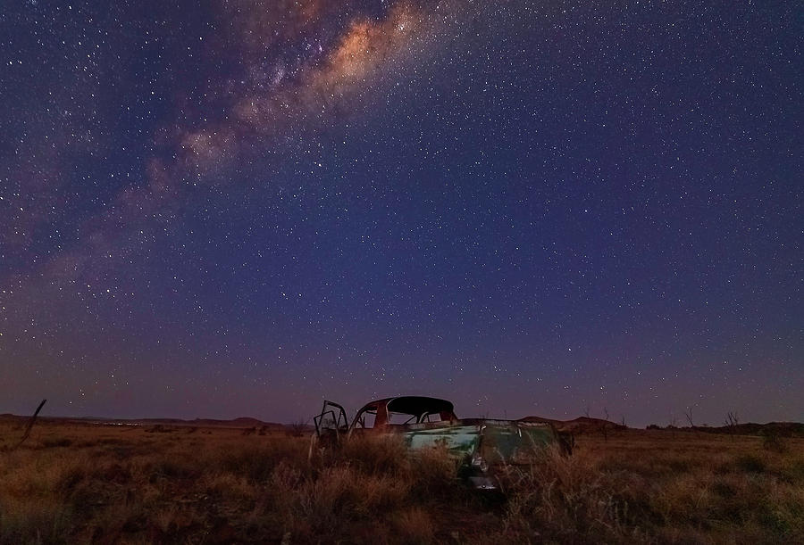 Old Car Photograph - Old Ute by Mark Vegera