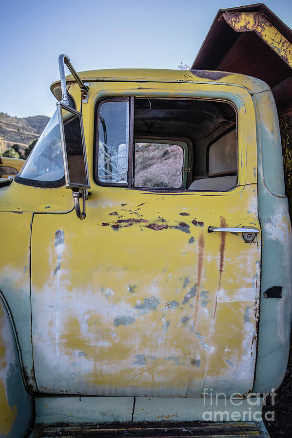 2018 Photograph - Old Vintage Dump Truck by Edward Fielding