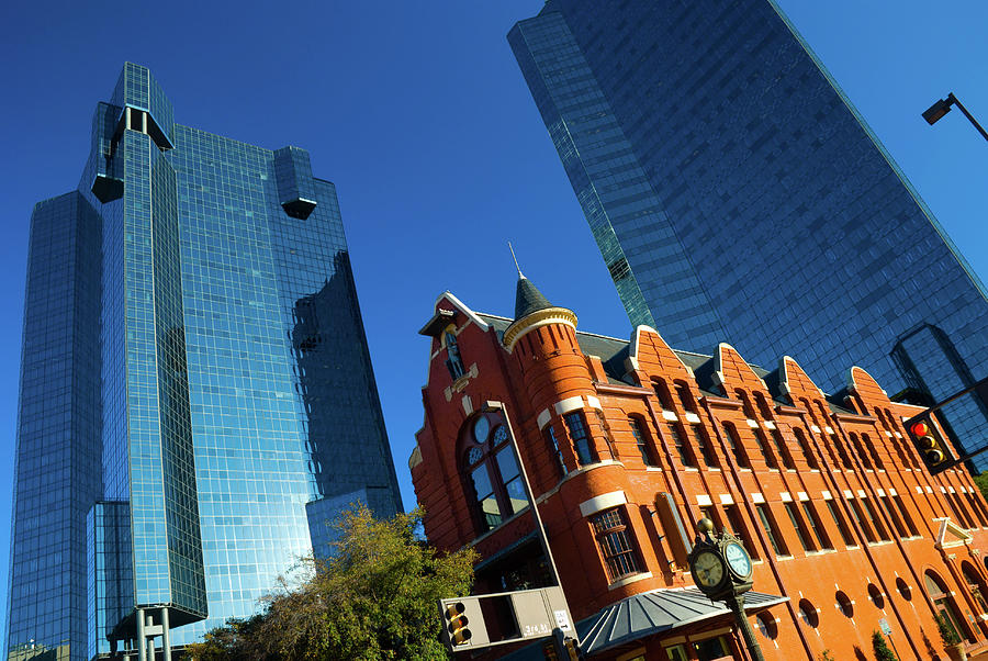 Old Vs New Fort Worth Glass Buildings Photograph by Davel5957