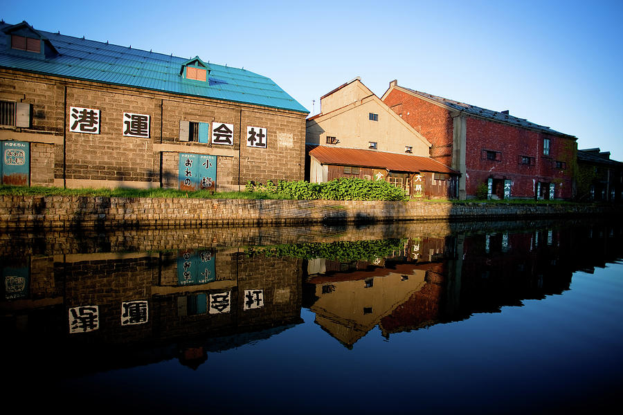 Old Warehouses Reflection In Otaru Canal Photograph by Kelly Cheng Travel Photography