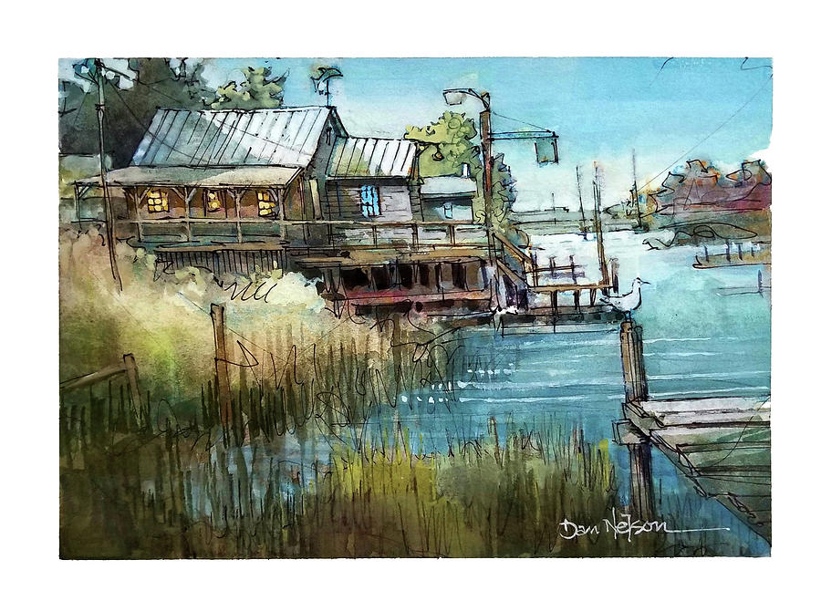 Old Water House, Beaufort Painting