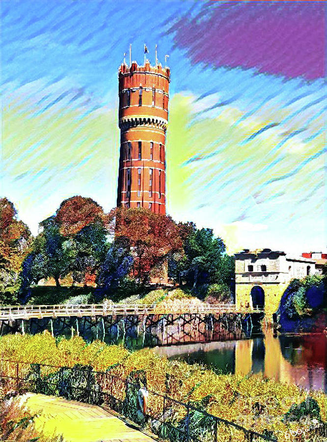 Old Water Tower by Elaine Berger
