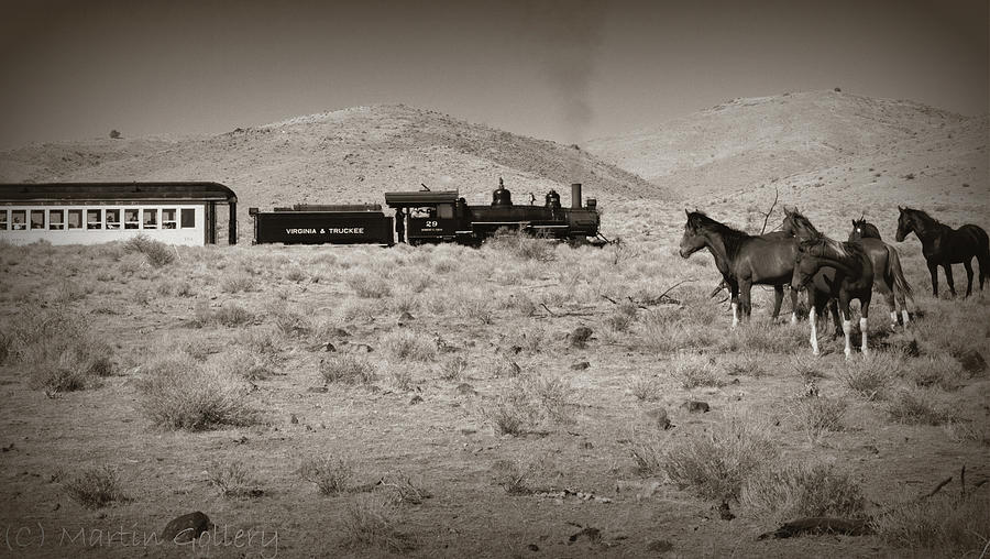 Old West Scene by Martin Gollery