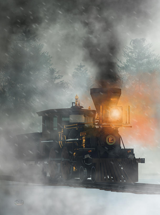 Old West Steam Train  by Daniel Eskridge