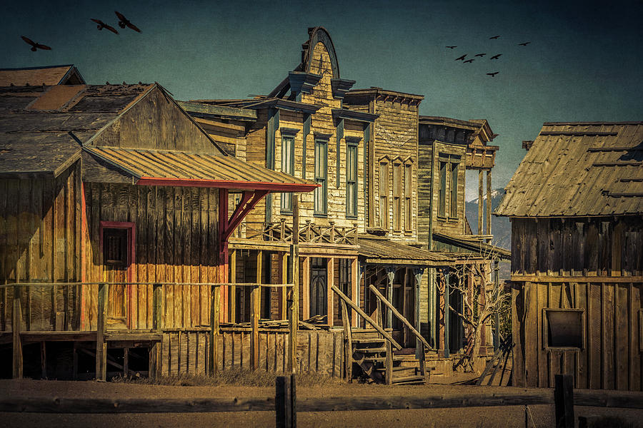 Old Western Town by Lou Novick