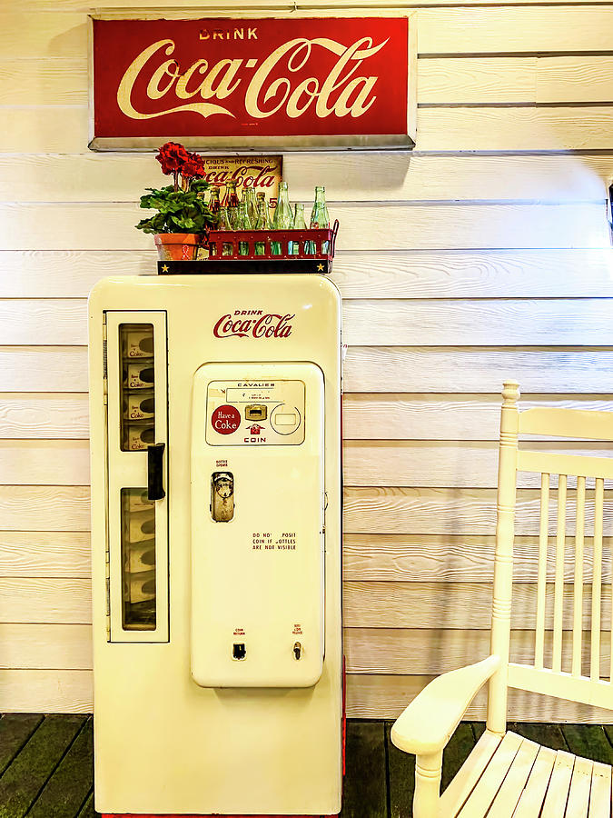 Old White Coca Cola Machine by Garry Gay