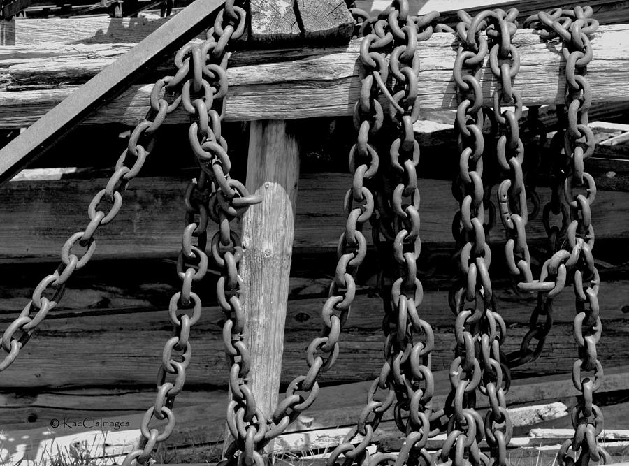 Old Wood and Chains BW by Kae Cheatham