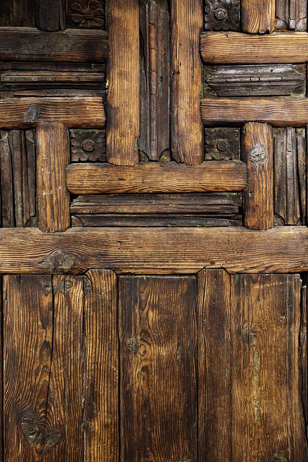 Old Wooden Door Photograph by Logosstock