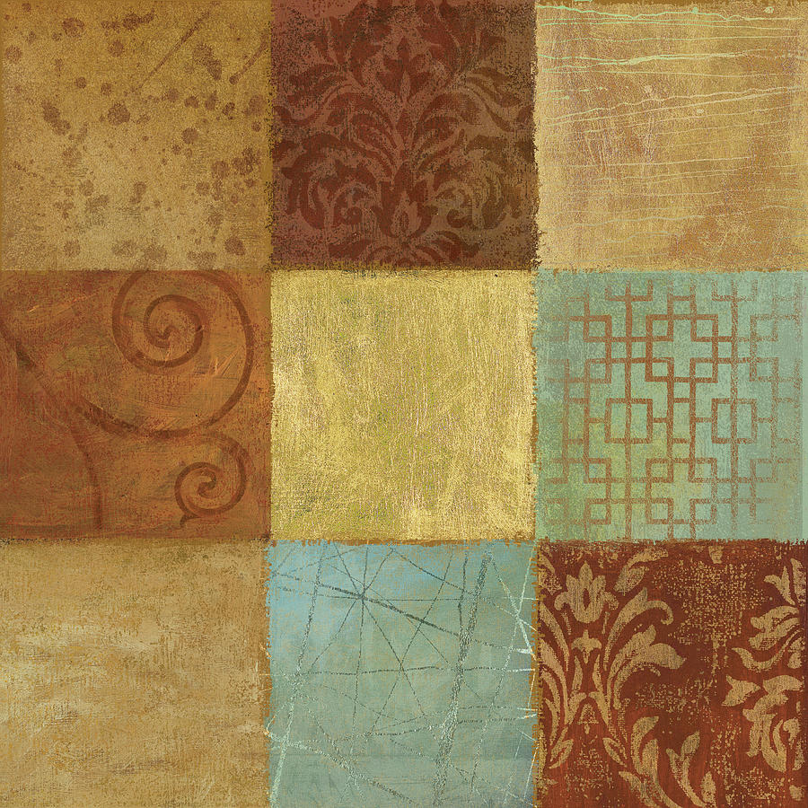 Damask Painting - Old World Motif by Yuna