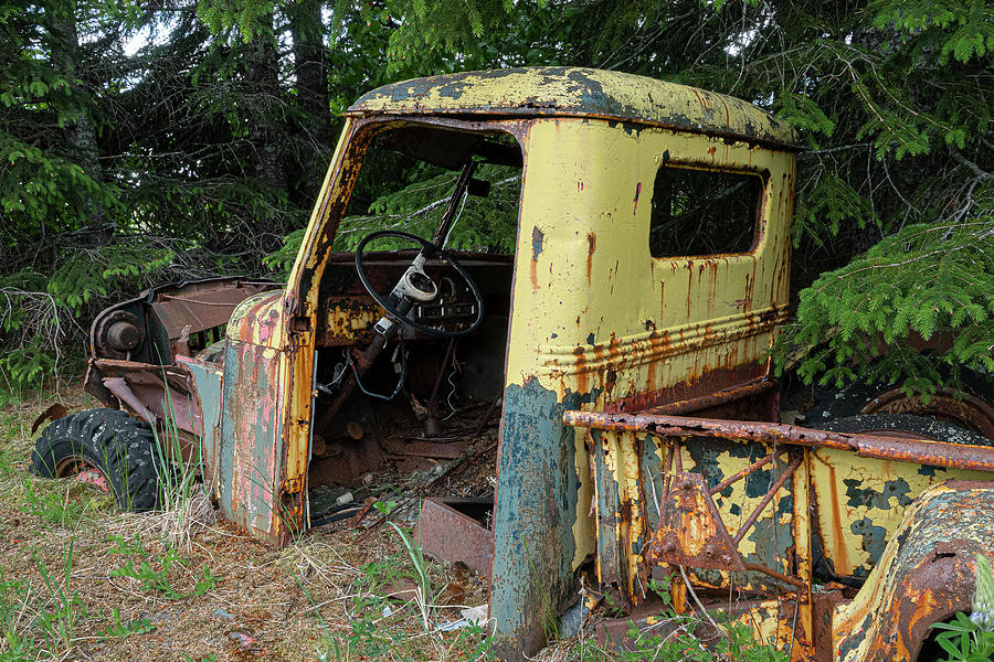 Old Yellow Truck by Gary Lengyel