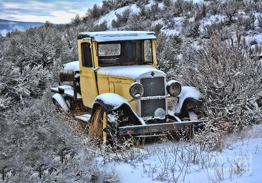 Old Yellow Truck by Vivian Martin