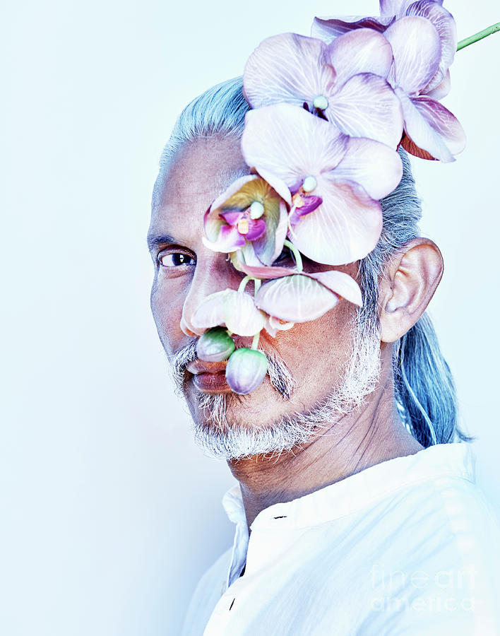 Older Man With Flowers Photograph by Tara Moore