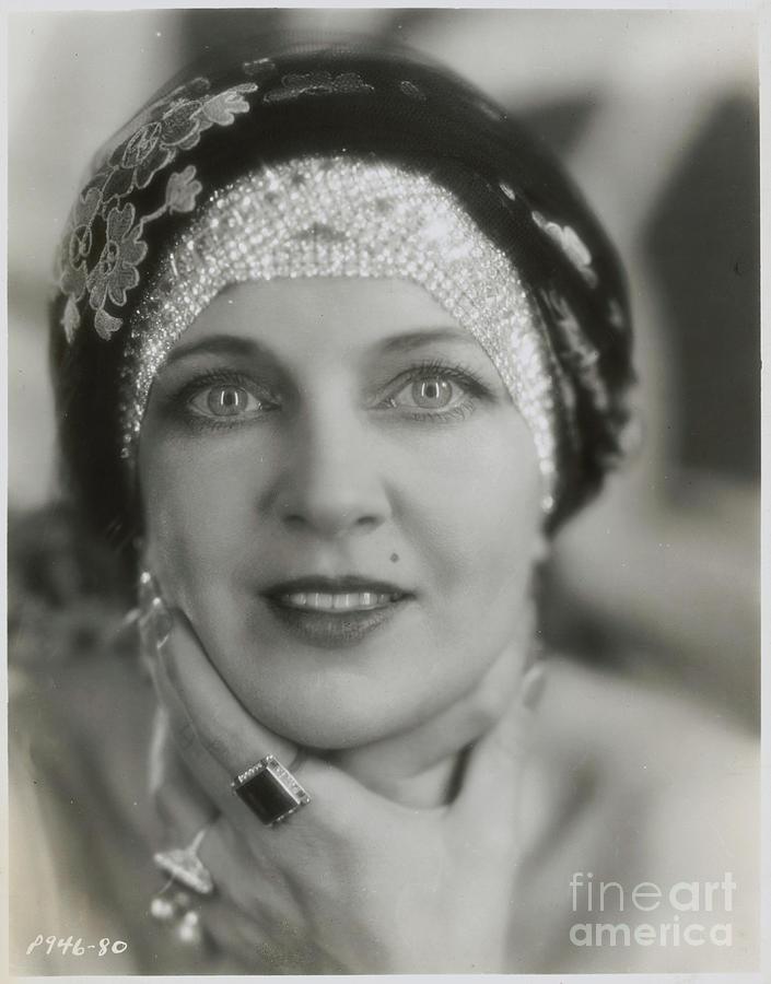 Olga Baclanova Wearing Rhinestone Turban Photograph by Bettmann