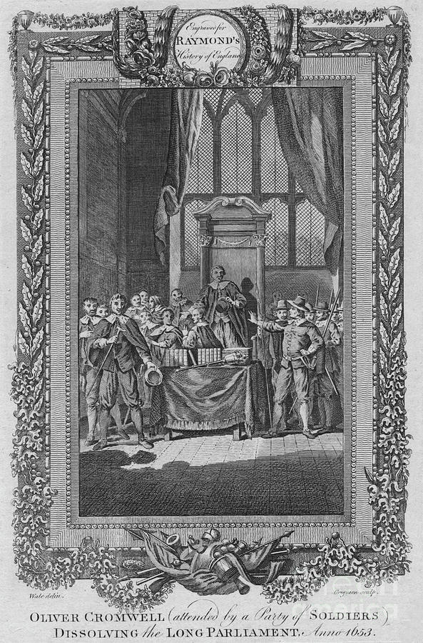 Oliver Cromwell Attended By A City Drawing by Print Collector