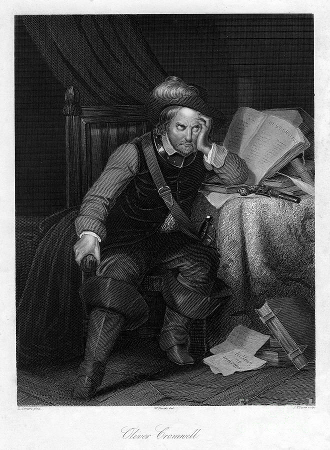 Oliver Cromwell With Killing No Murder Drawing by Print Collector