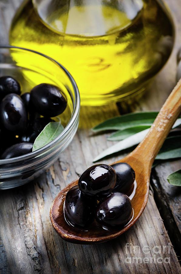 Olives and olive oil by Jelena Jovanovic