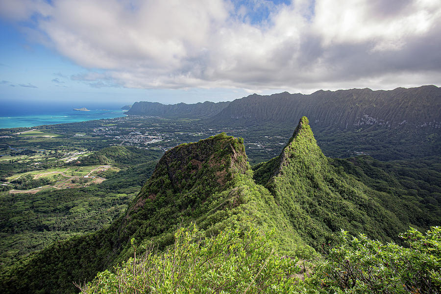 Hike Photograph - Olomana Three Peaks Trail, Hawaii by Ashley Meyers