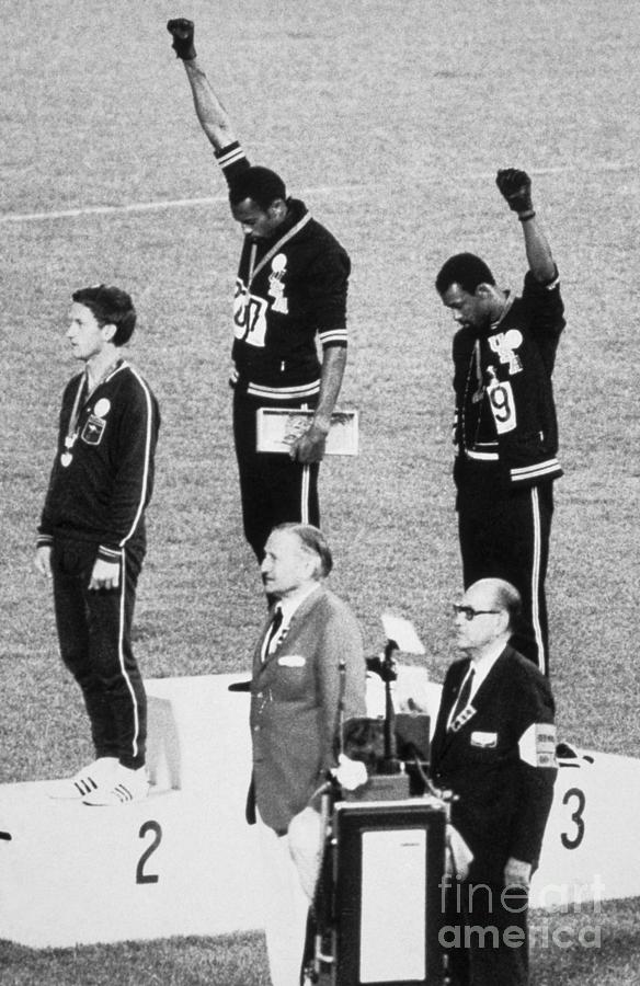 Olympic Atheletes On Podium Photograph by Bettmann