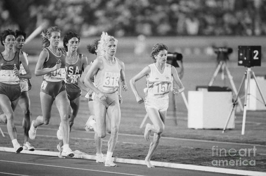 Olympic Runner Zola Budd Qualifying Photograph by Bettmann