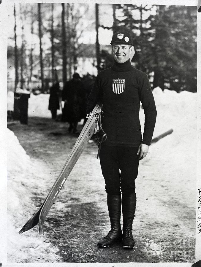 Olympic Ski Jumper Standing Photograph by Bettmann