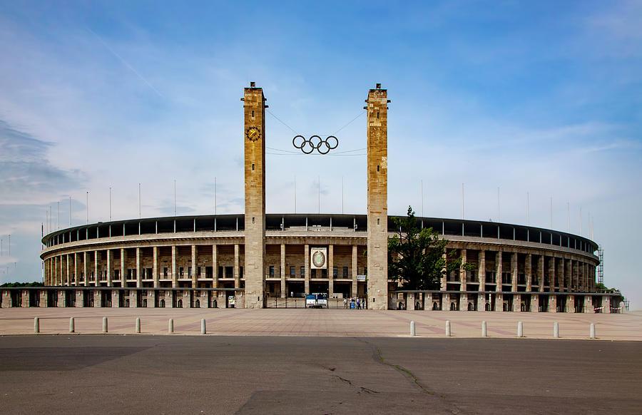 Olympic Stadium Mixed Media - Olympic Stadium Berlin by Smart Aviation