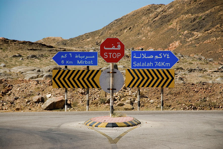 Oman Mirbat Road Signs Photograph by Jason Jones Travel Photography