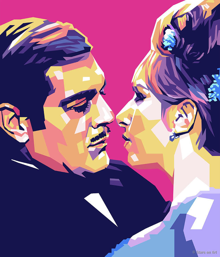 Omar Sharif And Barbra Streisand Digital Art