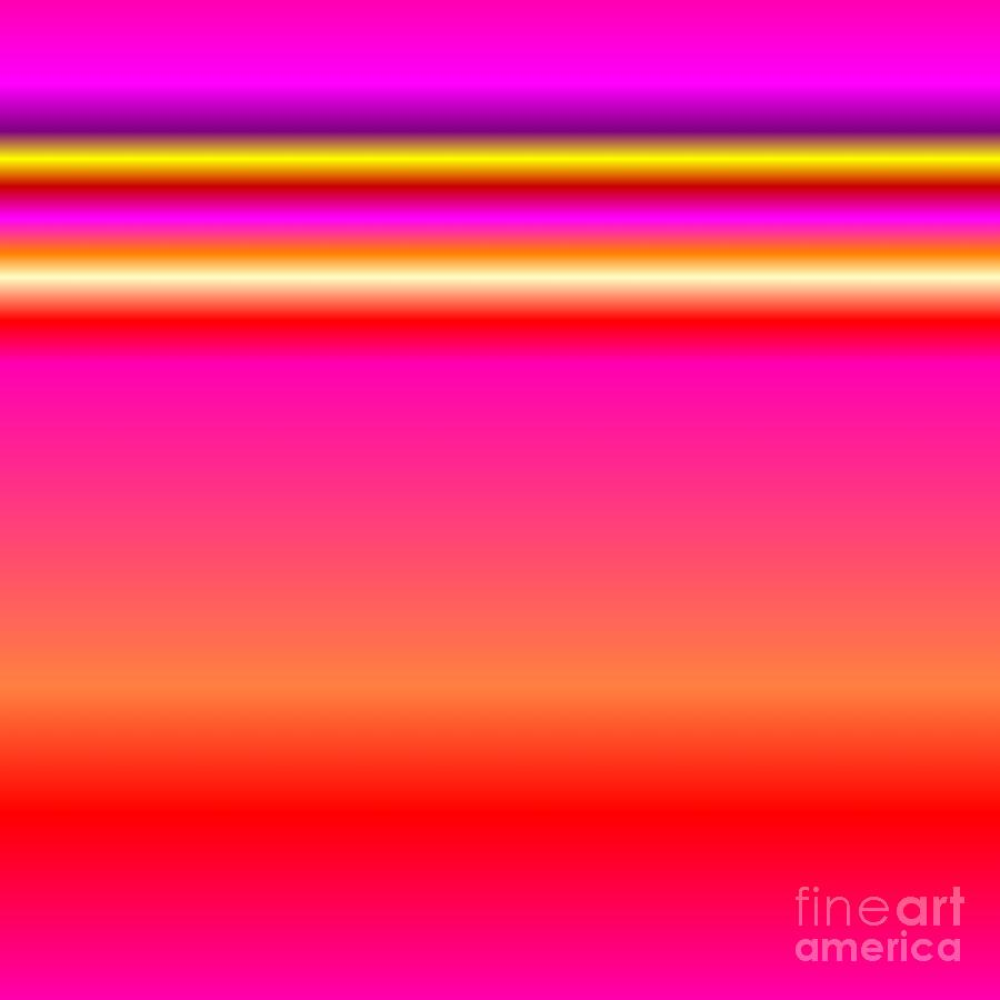 Ombre Horizon Pink Red Purple Yellow Digital Art by Rose Santuci-Sofranko