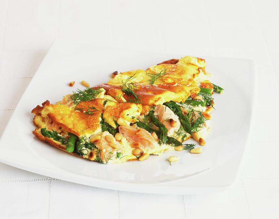 Omelette With Asparagus, Pinenuts And Photograph by Sian Irvine