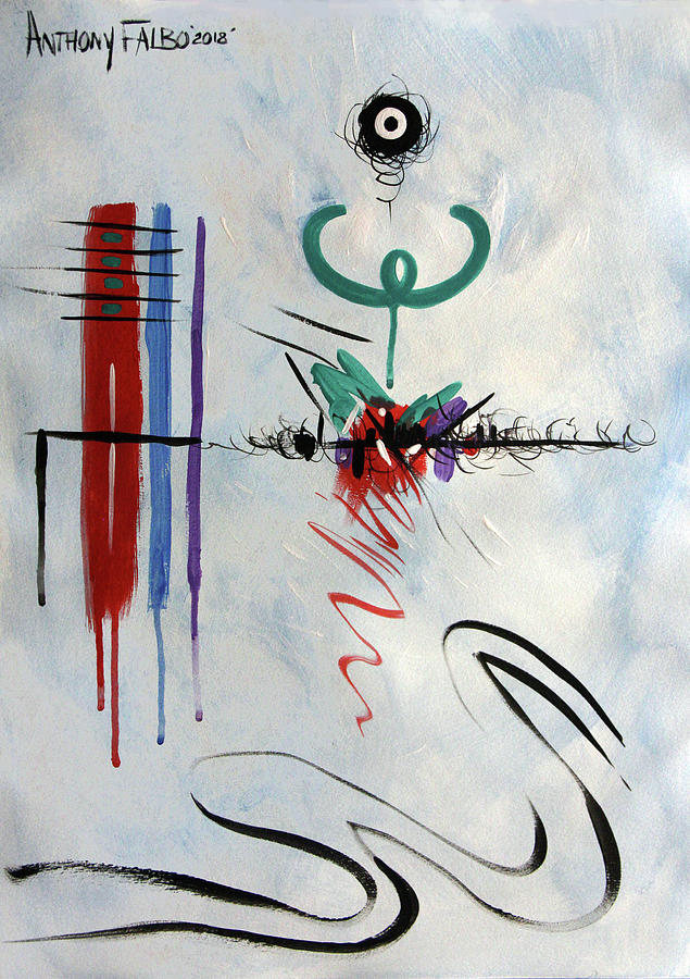 Abstract Painting - Omnipresence Proverbs 15-3 by Anthony Falbo