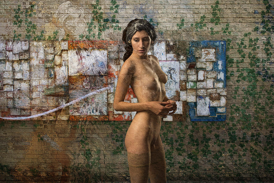 Fine Art Nude Photograph - On A Quiet Street In Brooklyn by Tom Gore
