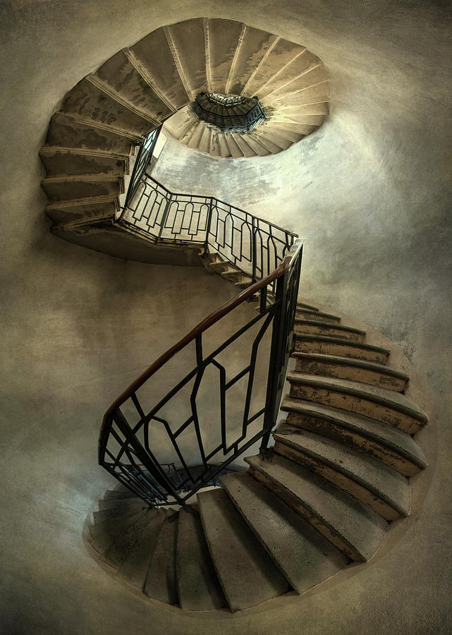 Staircase Photograph - An Old Staircase by Jaroslaw Blaminsky