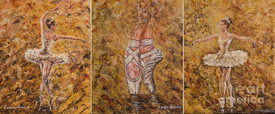 On Pointe Triptych by Linda Donlin