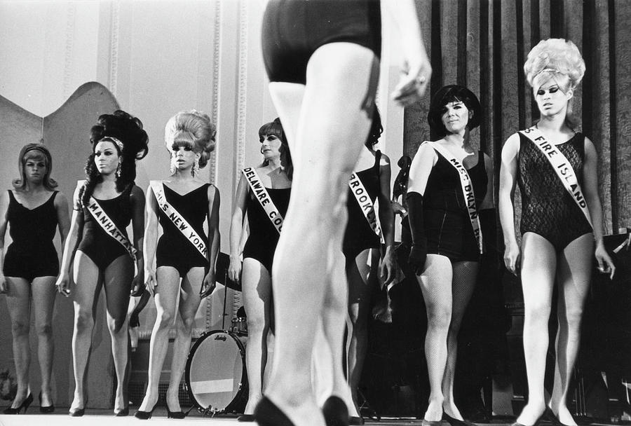 On Stage At Drag Beauty Contest Photograph by Fred W. McDarrah