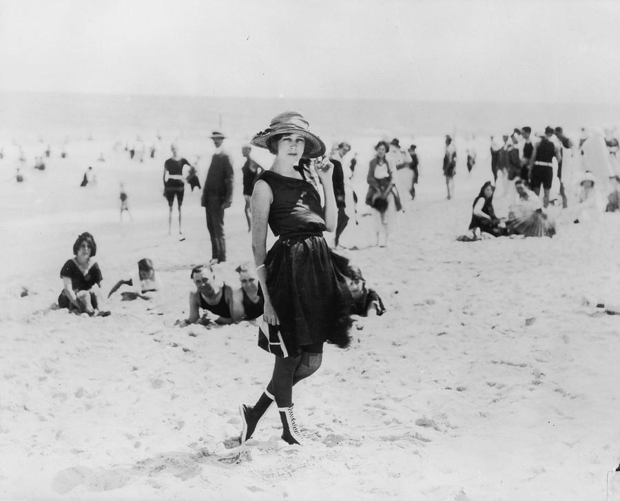 On The Beach Photograph by American Stock Archive