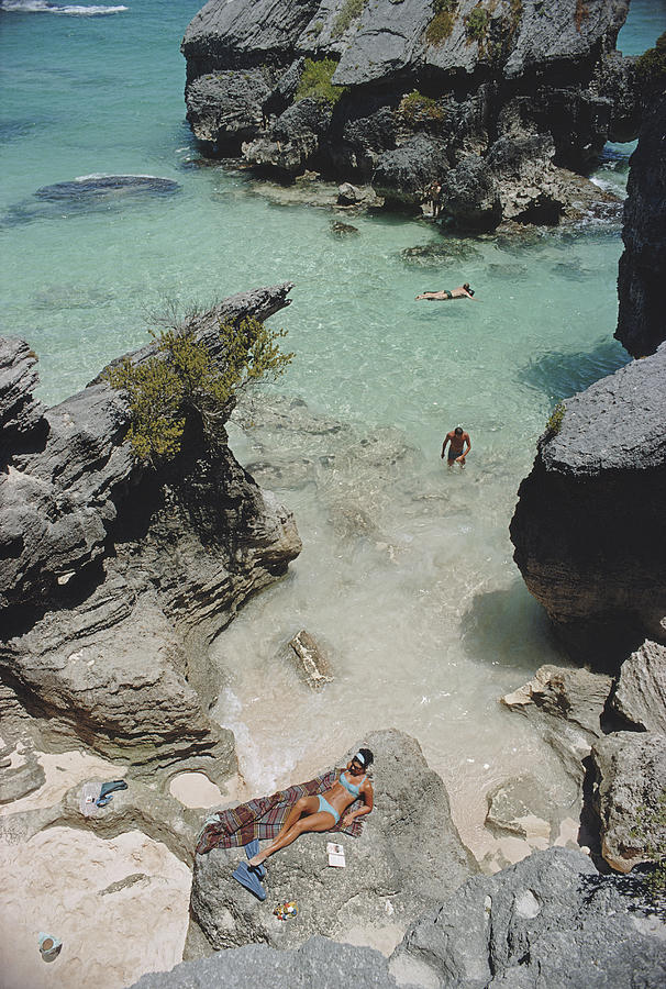 On The Beach In Bermuda Photograph by Slim Aarons
