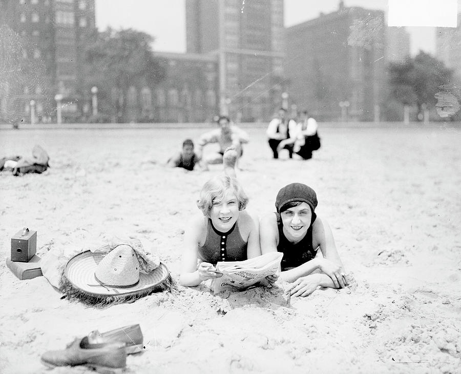 On The Beach In Chicago Photograph by Chicago History Museum