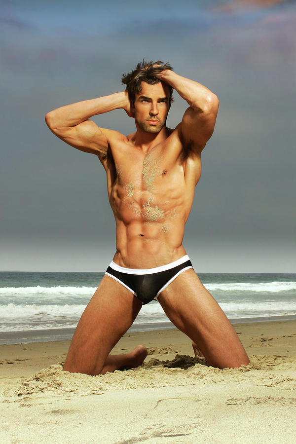Gay Photograph - On the beach by Male Vision Studio