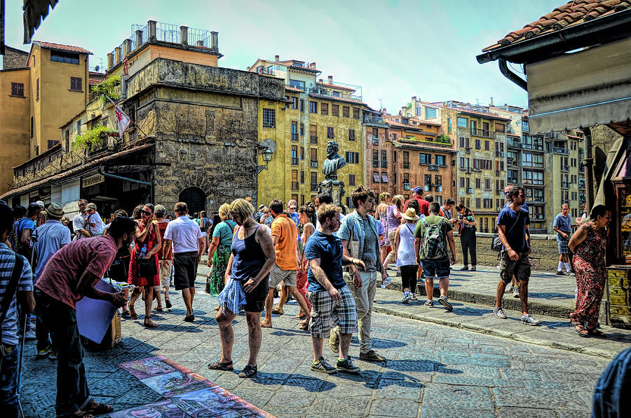 On the Crowded Ponte Vecchio by PAUL COCO