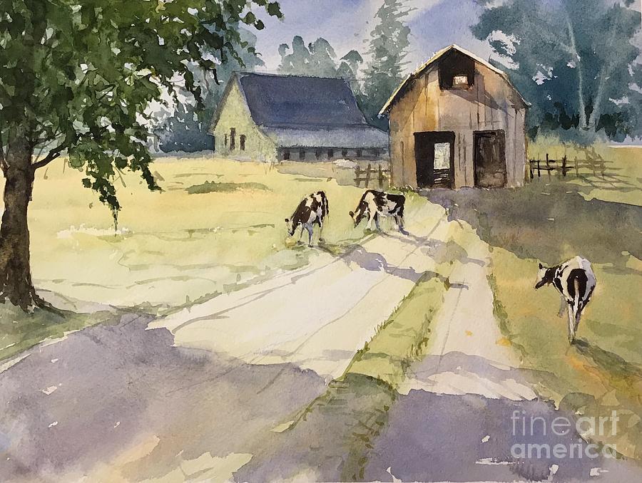 On The Farm Painting - On The Farm by Yohana Knobloch
