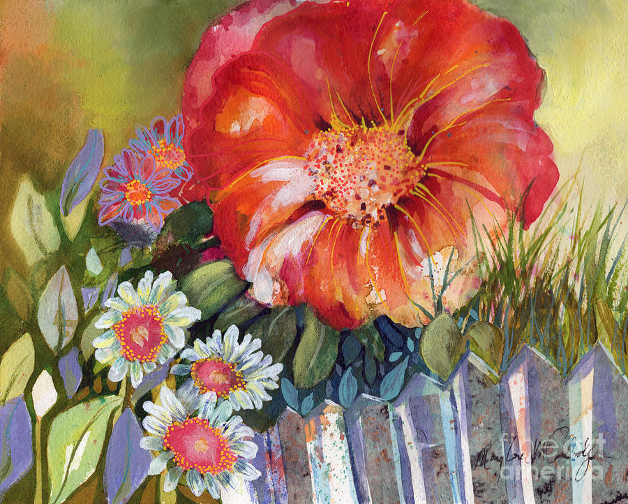 On the fence by Mary Lou McCambridge